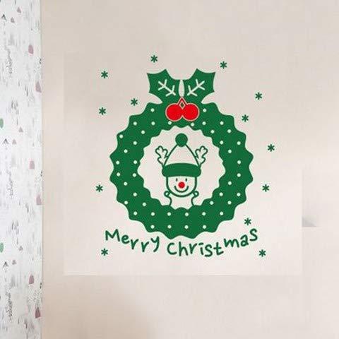 Zhaowm adesivo murale adesivo murale di natale adesivi per vetrine natalizie decorazioni natalizie doppie vetrate adesivi in vetro ghirlande adesivi per porte in vetro.abbellimento rosso verde