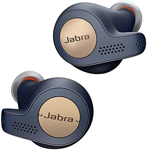 Jabra Elite 65t Active Cuffie Auricolari True Wireless, 100% senza Fili, In-Ear, Bluetooth 5.0 con Custodia di Ricarica e Accesso One-Touch ad Amazon Alexa, Sport, Blu/Rame