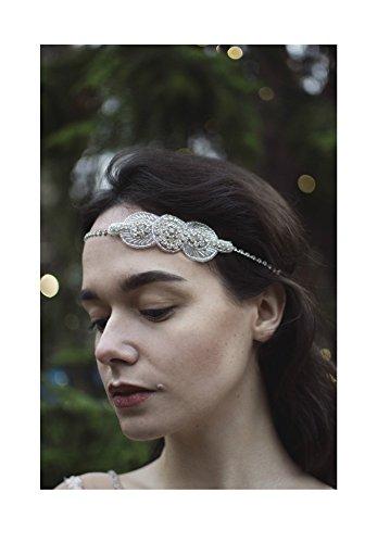 Argent Diamante bandeau de mariée Prom Great Gatsby style vintage années 1920 Flapper Deco Q62 * * * * * * * * exclusivement vendu par – Beauté * * * * * * * *