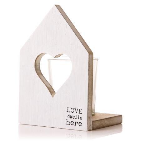 La Playa House C/H en forme de cœur Blanc 13 Cm