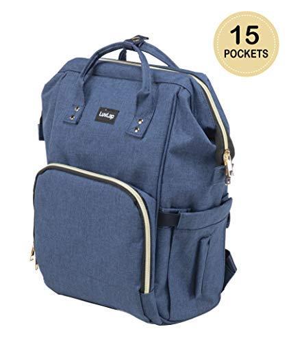 Luvlap Lily Diaper Bag - Multipurpose Waterproof Maternity Backpack Cum...