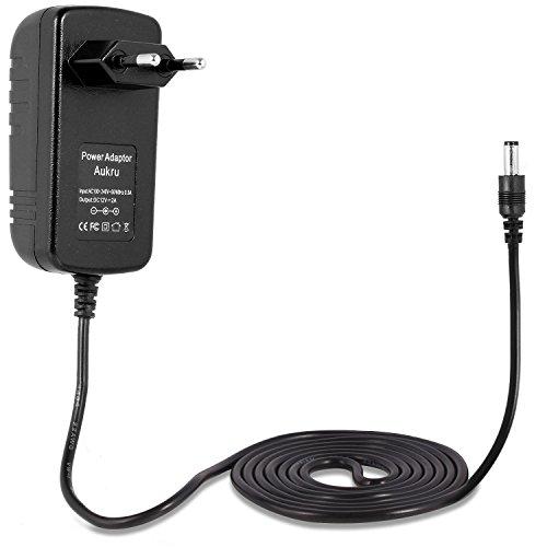 Aukru® 12V 2A 24W Adaptador fuente de alimentación Cargador Power un