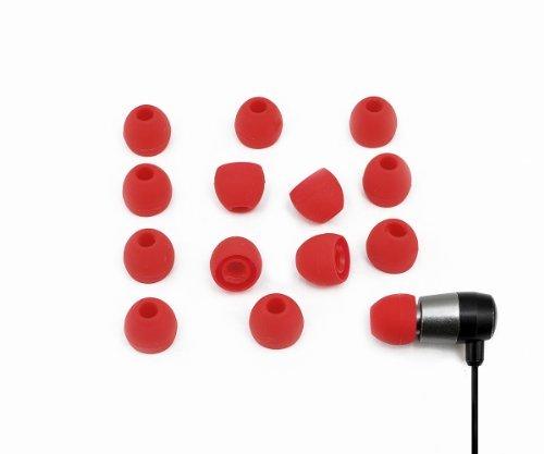 Xcessor, hochwertige Ersatz-Silikon-Ohrstöpsel für In-Ear-Kopfhörer, 7Paar (14Stück) Kompatibel mit den meisten In-Ear-Kopfhörer Marken.Maße:S.Weiß. S rot - 2