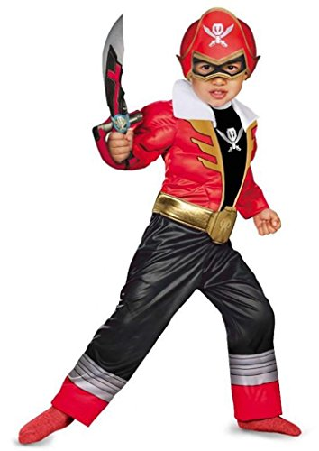 Samurai Rangers Kostüm Power Red - Power Rangers Super Megaforce Red Ranger Toddler Muscle Costume (Small)