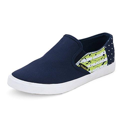 Froskie Men's Casual Dark Blue Canvas Shoes _FR-13-Dark-Blue-6