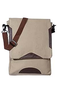 Protrude Unisex Canvas Sling bag - Light Beige