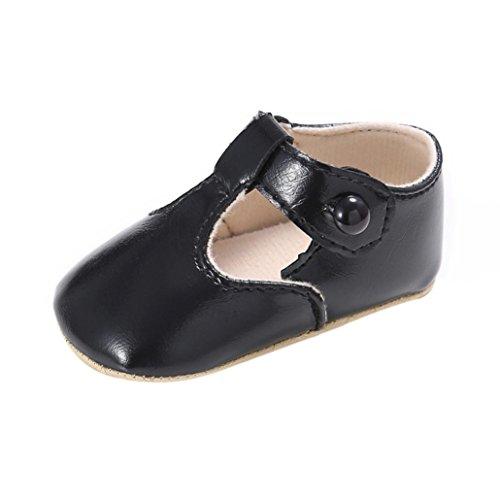 Saingace Sapatos Rastejando, Recém Nascido, Bebê, Criança Antiderrapante Couro Criança Sapatos Sola Macia Preta