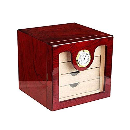 Zigarren Humidore Hochglanz Piano Paint Zedernholz Cigar Moisturizing Cabinet Aufbewahrungsbox Hygrometer Luftbefeuchter (Color : Multi-Colored, Size : A) -