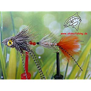"Streamer "" Grassman Natural "" 3er Set, Hakengröße 6"