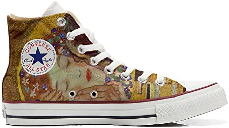 Converse All Star Hi Customized Personalisiert Schuhe Unisex (Gedruckte Schuhe) Küssen Klim