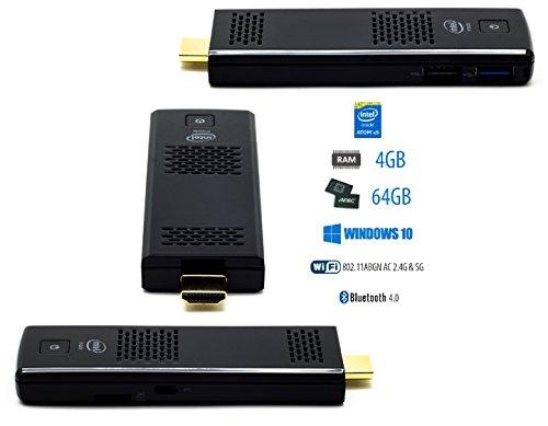 Mini PC Computer Stick Windows 10 64bit Intel Atom Z8350 Quad Core CPU 1.84GHz WiFi Bluetooth 4.0, 4GB Arbeitsspeicher 64GB Festplatte, HDMI