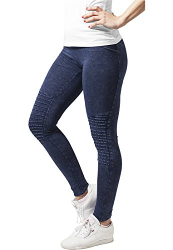 Ladies Denim Jersey Leggings indigo M