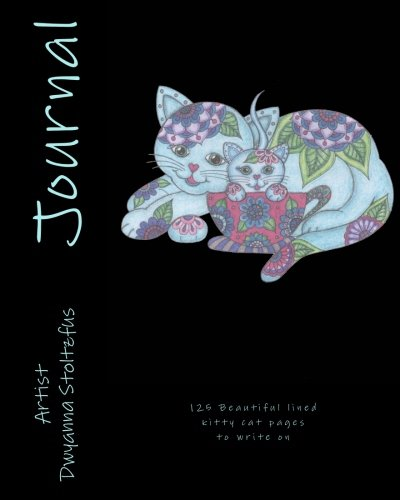 Precious Kitties Journal: 125 Beautiful lined kitty cat pages to write on