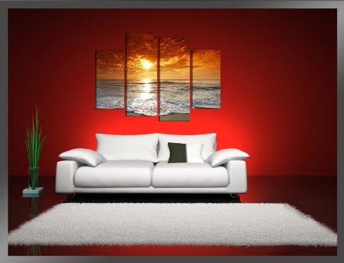 visario quadro su tela water 130 x 80 cm 4 tele modello nr xxl 6038 i quadri sono montati su. Black Bedroom Furniture Sets. Home Design Ideas