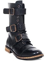 ccbc9d9e58adc7 Boots   Braces - 12 Loch 3 Schnallen Steampunk Schuhe Gothik Ranger