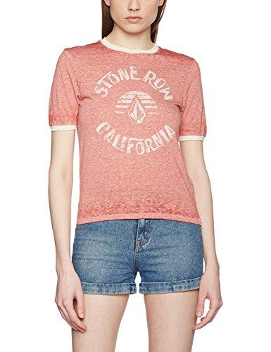 Volcom Damen Awl Rights T-Shirt, Rot, XS dunkelbraun