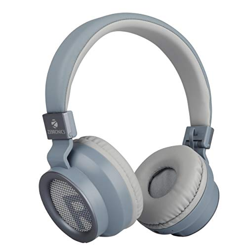 5. Zebronics Zeb-Bang Bluetooth Headphone with Voice Assistant (Grey)