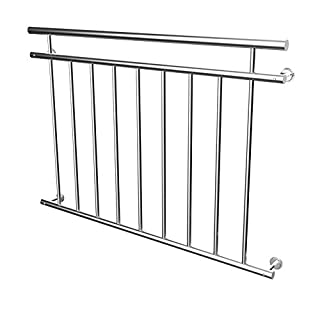 MCTECH® 128 x 90 cm Edelstahl Französischer Balkon Geländer Balkongeländer Geländer Stabgeländer