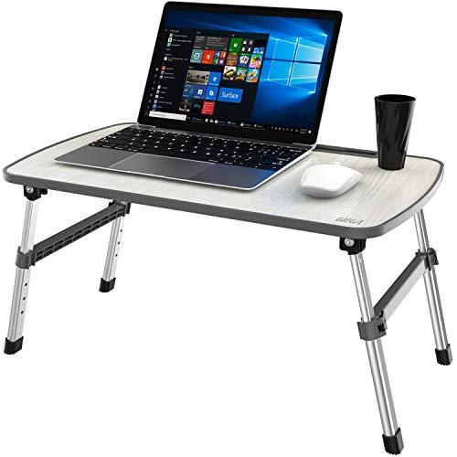 Gizga Essentials Ergonomic Height Adjustable Foldable Multi-Function Portable Laptop Table