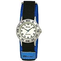 Ravel Children's Glow in the Dark Blue and Black Nylon Strap Watch