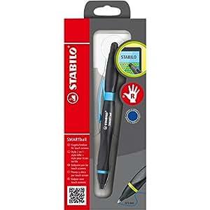 STABILO Stylo à bille ergonomique à encre bleue avec fonction Touchscreen SMARTball pour droitier (Noir/bleu) (Import Allemagne)