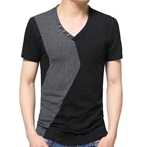Styledresser-T-Shirt-Uomo-Maglietta-da-Uomo-Estivo-2018-T-Shirt-Camicetta-Camicie-da-Uomini-Tees-Tops-Maglietta-a-Manica-Corta-A-V-Neck-Polo-FelpeM-5XL