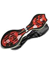 Makrofit Deluxe XL Pro Close Style - Waveboard (hasta 110 kg) multicolor rojo Talla:85x25x13