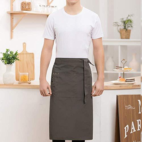 YXDZ (2 Stück Halbschürze Männer Und Frauen Coffee Shop Hotel Western Restaurant Nach Der Küche Kochkellner Overalls Halbe Taille Schürze Grau (Fett Skelett Kostüm)