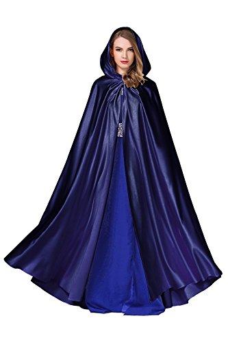 Femme Mariée Manteau Cape à Capuche Chaude Capuchon Longue de Mariage Par BEAUTELICATE?plus de couleurs? bleu foncé