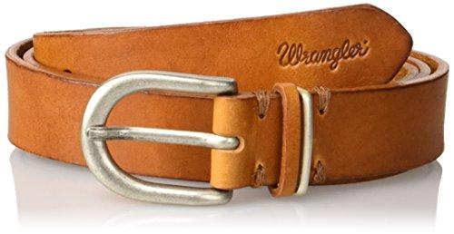 Wrangler Damen Double Loop Gürtel, Braun (Cognac 81), 90 - Wrangler Jeans Damen