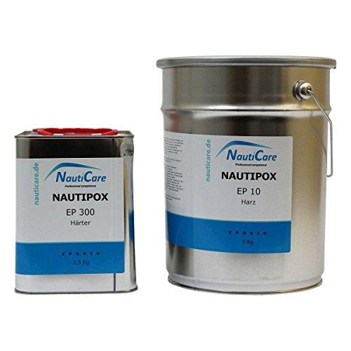 NautiCare NautiPox EP 10 Universalharz Set 7,5 kg - Epoxidharz - Set mit Epoxid Harz Transparent und Härter -