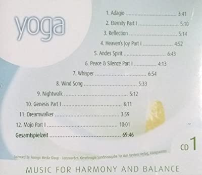 "5er Set CD ""MUSIC FOR HARMONY AND BALANCE"" für Wellness und Entspannung, 5CD´s, YOGA - REIKI - TAI CHI - PILATES - FENG SHUI"