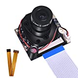 Raspberry Pi 3 B + Modulo Fotocamera, Kuman 1080p HD 5MP Webcam OV5647 Sensore IR-Cut Camera Switching automatico Day/Night Vision Video per Raspberry Pi 3/2/1 zero W modello B/B + / A + SC25