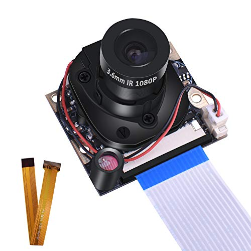 Raspberry Pi 3 B+ Camera Module, kuman 1080p HD 5MP Webcam OV5647 Sensor IR-Cut Kamera Automatic Switching Day/Night Vision Video for Raspberry Pi 3/2/1 Zero W Model B/B+/A+ SC25-1
