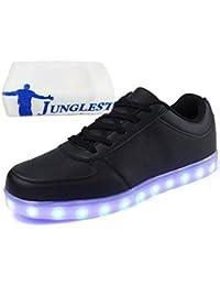 [Presente:peque?a toalla]Negro EU 41, 7 Unisex Negro Hombres JUNGLEST? Up LED Zapatos Rojo manera mo