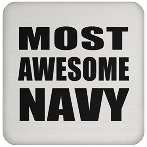 Most Awesome Navy - Drink Coaster Untersetzer Rutschfest Rückseite aus Kork - Geschenk zum Geburtstag Jahrestag Muttertag Vatertag Ostern Navy Coaster