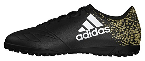 adidas X 16.4 Tf, Chaussures de Football Homme Noir (Core Black/ftwr White/gold Metallic)