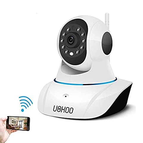 Wireless IP Camera, UOKOO 720P WiFi Security Surveillance Camera System Pan/Tilt with 2-Way Audio, Night Vision, Motion Email Alert, Baby Video Monitor