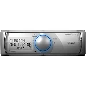 CLARION M502 Single-DIN In-Dash Marine Mechless MP3 Receiver with Bluetooth(R)