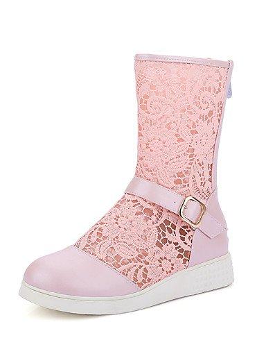 ShangYi Mode Frauen Schuhe Damenschuhe Keile / Fashion Stiefel Outdoor / Büro & Karriere / Casual Keilabsatz OthersBlack / &308 Schwarz