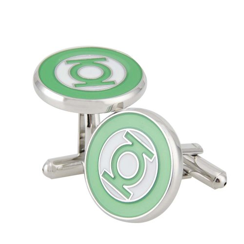 Apollo23 - 0.71 in Rhodium Plated Green Lantern Cufflinks