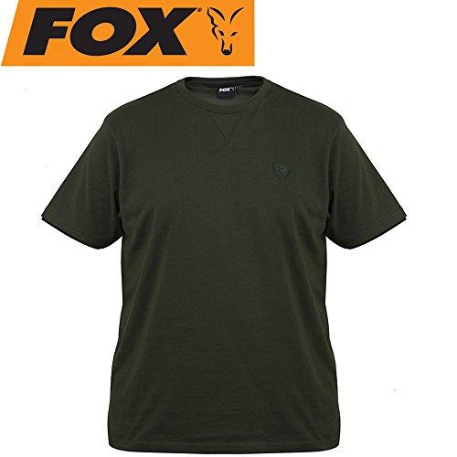 Fox Green Black T-Shirt - Angelshirt, Anglershirt, Shirt für Angler, Tshirt zum Angeln, Größe:L