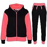 A2Z 4 Kids® Kinder Trainingsanzug Mädchen Jungen Designer Plain Kontrast - T.S Plain 101 Neon Pink 13