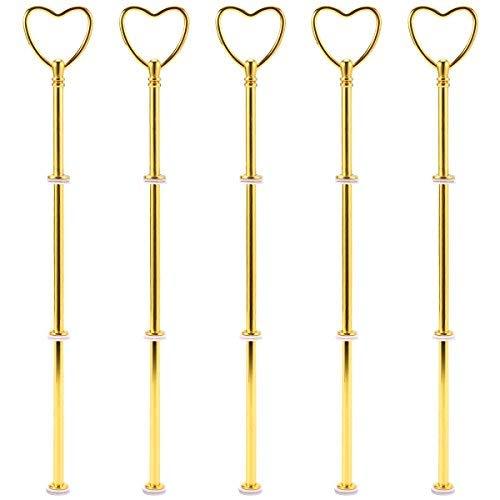 Kit 5 Cœur Golden Barres de métal mittell częstochowa piquent pour 2 à 3 Support Présentoir Gâteau gâteau de mariage gâteau plateau 32 cm