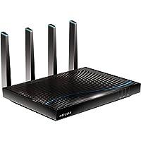 Netgear Nighthawk R8500-100PES X8 AC5300 Wireless 802.11ac Quad Stream Tri-Band Gigabit Router (funktioniert mit Alexa, MU-MIMO, 1024 QAM, Port Aggregation, 5300Mbit/s, Beamforming+)