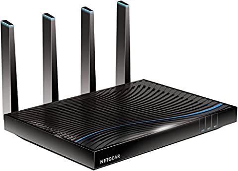Netgear Nighthawk R8500-100PES X8 AC5300 Wireless 802.11ac Quad Stream Tri-Band Gigabit Router (funktioniert mit Alexa, MU-MIMO, 1024 QAM, Port Aggregation, 5300Mbit/s,