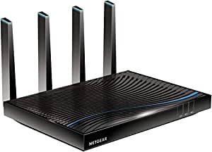 Netgear Nighthawk X8 R8500-100INS AC5300 Tri-Band Quad-Stream Wi-Fi Router (Black, with Indian Adapter)
