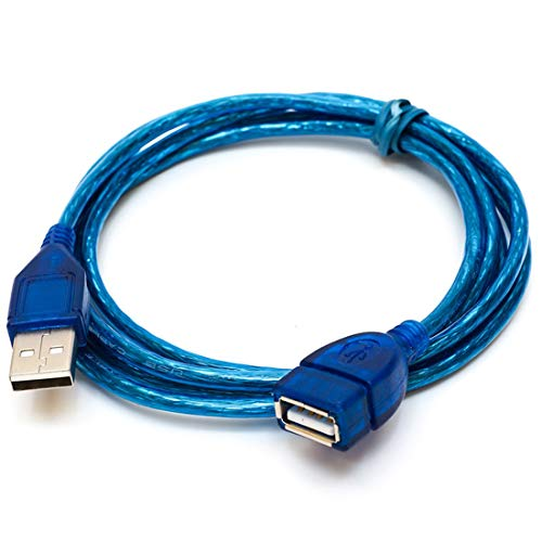 vbncvbfghfgh 1/1,5/2/3 M Entstörungs USB 2.0 Verlängerungskabel USB 2.0 Stecker auf USB 2.0 Buchse Verlängerung Daten-Synchronisierungs-Schnur-Kabel-Blau
