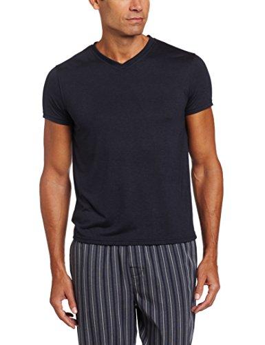 Intimo soft knit v-neck top, parte sopra pigiama uomo, marina militare, large