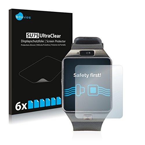6x Savvies SU75 UltraClear Bildschirmschutz Schutzfolie für Simvalley Mobile PX-4057 (ultraklar, mühelosanzubringen)